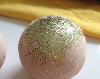 Pumpkin Spice Bath Bomb/Glitter Bath Bomb/Bath Fizzies/Fall Bath Bomb/Vegan