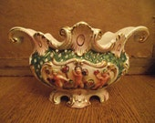 Lovely centre piece, Capodimonte style porcelain flower vase Playful cherubs