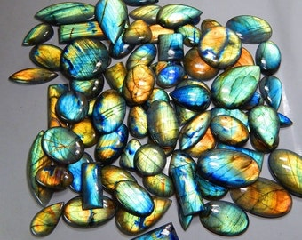 Natural Multifire LABRADORITE wholesale CABOCHON lot gemstone 500 carats top quality AA+ Labradorite Gemstone, Labradorite Cabochon lot