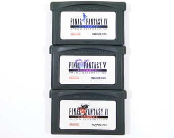 Final Fantasy 4 5 6 IV V VI Advance Sound Restoration GBA Carts for Nintendo Game Boy Advance Music Remaster Cartridge - Free Shipping!