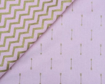 Pink and Gold Crib Sheet - Set of 2