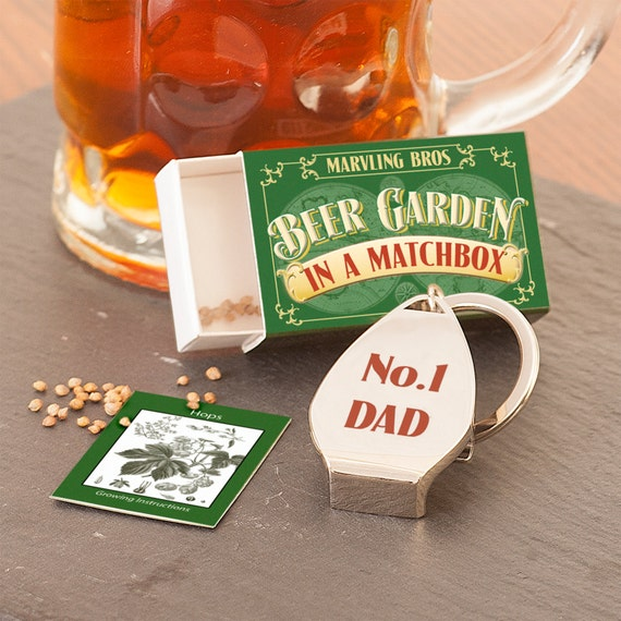 Grow Your Own Beer Garden For Dad - Gift for Dad - Beer Gift - Beer for Dad - Dad Keyring - Bottle Opener Keyring - Beer Hop Seeds