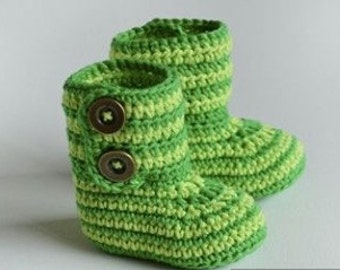 Two tone green booties