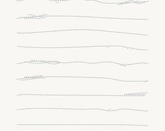 Stitched Up 2- Digital Scrapbooking Elements - 10 messy digital stitches