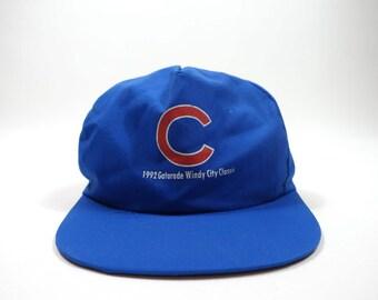 Rare 1992 Cubs & Sox Reversible Hat - Vintage 90s Snapback - MLB Baseball Hat
