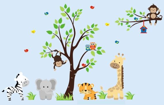 Nursery Wall Decals Animal Wall Art Zoo Animal Wall Art - Zoo animal wall decals