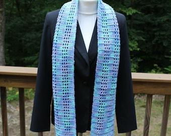 Long Crochet Scarf, Multicolor Scarf, Women's Scarf, Winter Fashion