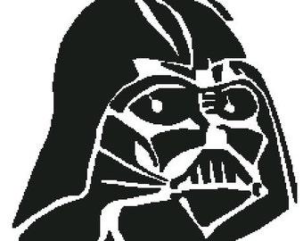 """Patrón en Punto de Cruz: """"Mascara de Darth Vader"""""""