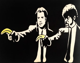 Pulp Fiction Painting on Canvas