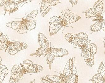 Butterfly Botanical Tonal Butterflies Tan by Henry Glass