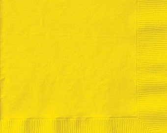 School Bus Yellow napkins, pack of 50
