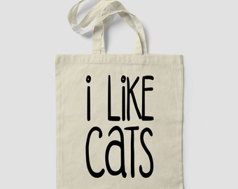 I Like Cats More Than I Like People Funny Crazy Cat Lady TOTE BAG