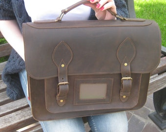 Leather Messenger Bag, Leather Bag, leather handbag, Leather Satchel , leather briefcase, Messenger Bag,  Shoulder bag, vintage leather bag