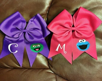 Sesame Street Personalized Cheer Bow