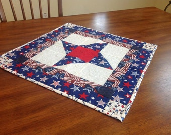 All American Quilted Table Topper