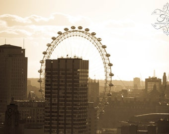 London Photograh, London Eye, Sepia