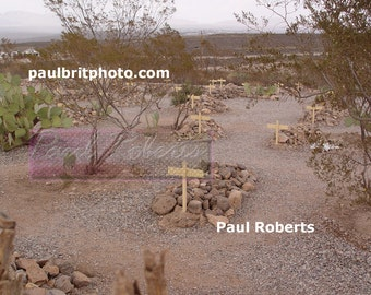 Boothill Graveyard, Tombstone Arizona (Color)