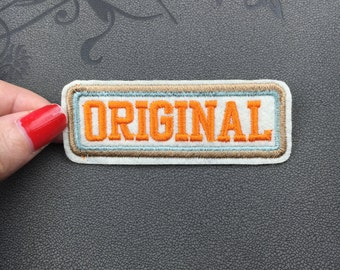 original badge patch bar patch embroidered patch iron on patch sew on patch