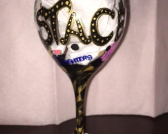 Hand Painted Glasses with Bling