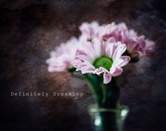 Fine Art Photography- Pink Flowers, Floral Art Photograph, Modern Flower Photography, Floral Wall Art, 10x8, 14x11 photograph