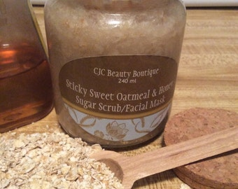 Sticky Sweet Oatmeal & Honey Sugar Scrub/Facial Mask