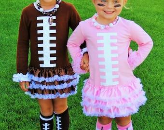 Brown Ruffle Football Dress