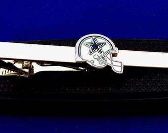 Dallas Cowboys tie clip Cowboys tie bar football gift idea