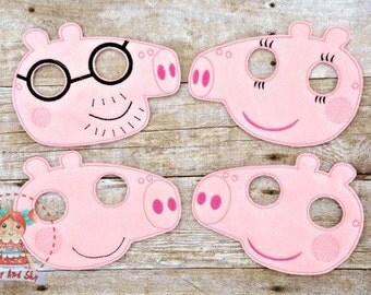 Peppa Pig Inspired Masks Mommy Pig Daddy Pig Brother George Birthday Party Idea Play Costume