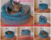 All-In-One Bed & Blanket for Pets - Original Design By Andrea's Knitting Addiction