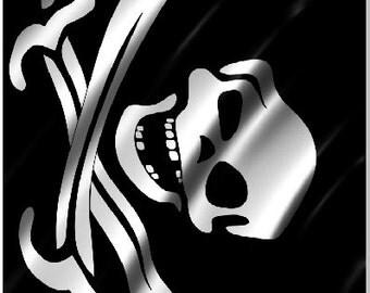 Pirate Flag Skull Crossbones LAMINATED Cornhole Wrap Bag Toss Decal Baggo Skin Sticker Wraps