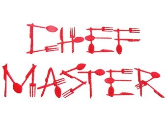 Master Chef Embroidery Font