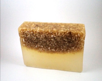 Honey and Oatmeal Soap - Handmade Natural Soap - Soothing Soap Exfoliating Soap Sweet Soap
