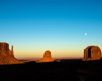 Moon Over Monument Valley