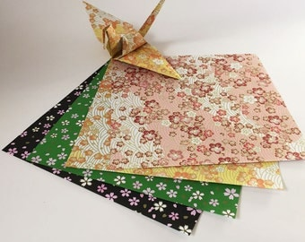 Origami Paper Sheets - Japanese Style Pattern - 100 Sheets