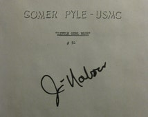 Gomer Pyle Signed TV Script Screenplay Autograph X4 Jim Nabors Ronnie Schell Frank Sutton Ted Bessell USMC signature Little Girl Blue