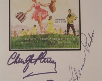 The Sound of Music Signed Script Film Movie Screenplay X3 Autographs Julie Andrews Christopher Plummer Eleanor Parker signatures reprint