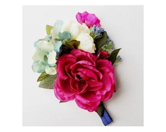 NAVY BOUQUET HEADBAND