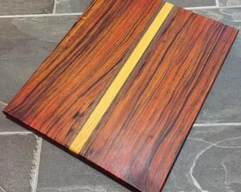 Cocobolo, Walnut and Osage Orange Cutting Board
