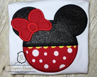 Retro Girl Mouse Machine Embroidery Applique Design Use Coupon Code PRINCESS for 15% Off