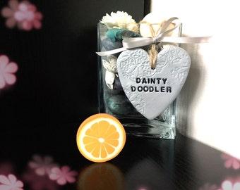 Orange Fruit Eraser / Novelty Rubbers / Stationery / Kids / School / Gift