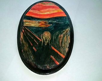 The Scream by Edvard Munch Wooden Wall Hanging