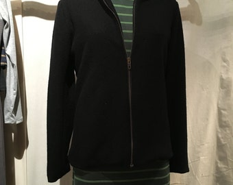 Zip-up Wool Boucle Jacket