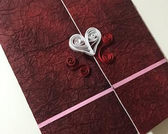 Quilled Open My Heart Card//Valentine's//Wedding//Anniversary