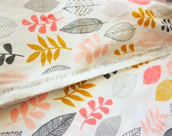 Eloise Renouf / Cloud 9 Fabrics / Leaf Sampler First Light / Organic Cotton Poplin Print / Quilting Crafting Dress / Half Metre