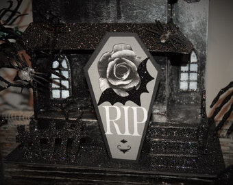 Halloween RIP Coffin Greeting Card