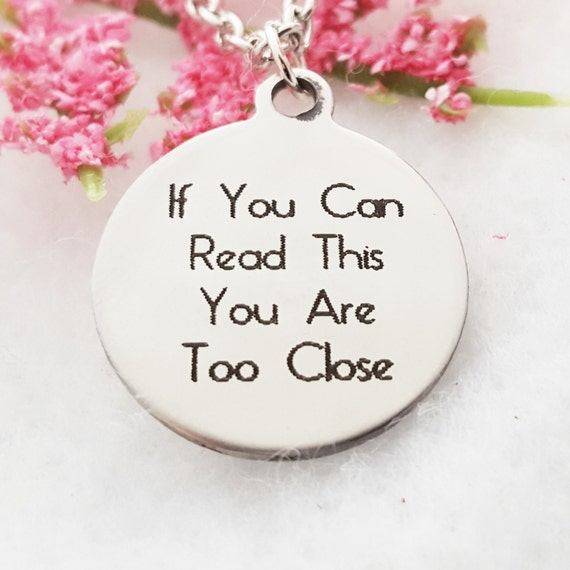 Gag Gift, Fun White Elephant Gift, Funny Quote Charm Necklace, Unique One of a Kind Jewelry, Word Charms, Fitness Jewelry, Crossfit Necklace