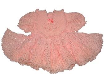 Pink Dress with Matching Bib