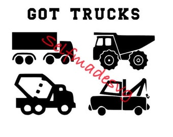 got trucks design can be used to make a shirt or a sign. I used this file to make a shirt for my son. It turned out great!