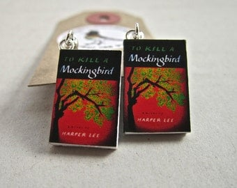 "To Kill a Mockingbird Book Earrings from ""The Earring Library"""