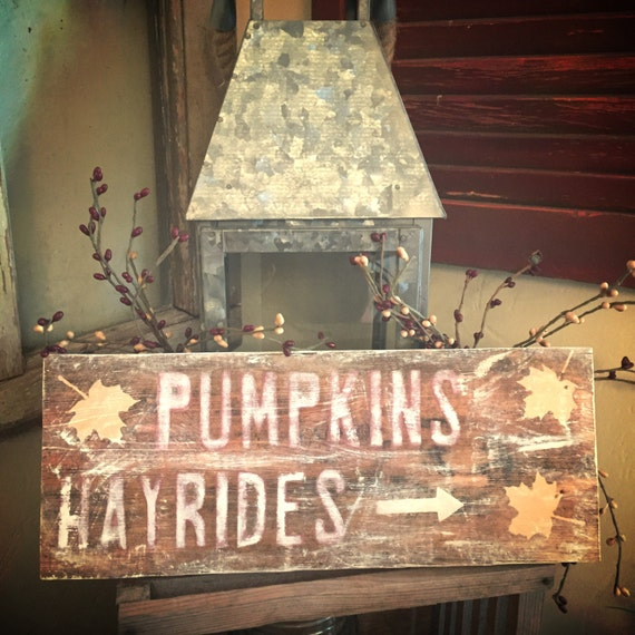 Fall sign, autumn sign, pumpkin sign, hayride sign, pumpkins and hayrides, fall decor, autumn home decor